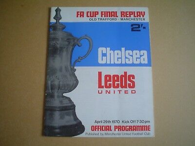Chelsea  V  Leeds United    1970 Cup Final    Replay