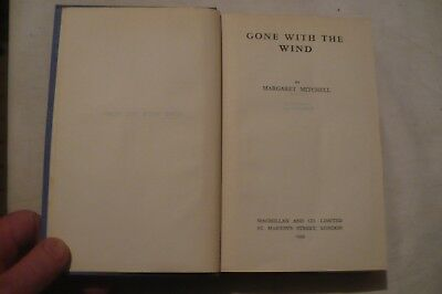 """""""gone With The Wind"""" Margaret Mitchell 1939 Hardback"""