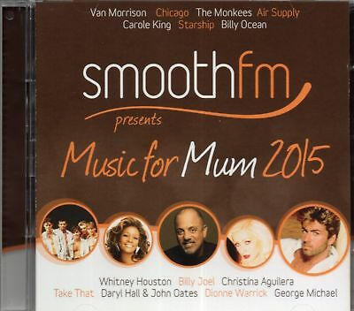 Music For Mum 2015 (2 x CD) Chicago/Bread/George Michael/Frankie Valli/Take That