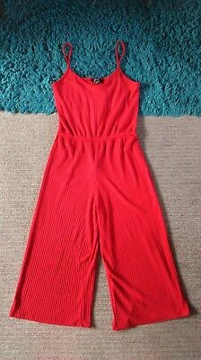 New Look Red Cullotte Jumpsuit Age 14/15 BNWT Xmas