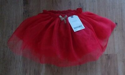 Bnwt Baby Girls Next 1St Christmas Red Full Netted Tutu Skirt 3-6 M Rrp £16