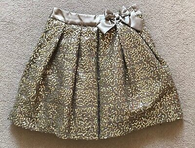 George Girls Gold Sequin Sparkly Christmas Party Rara TuTu skirt Age 6-7 years+