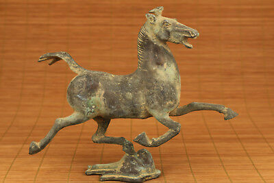 big chinese old bronze handcarved fly horse statue figure collectable