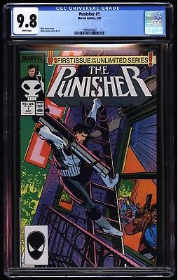 Marvel's The Punisher #1 CGC 9.8 White- Unlimited Series Janson Cover and art