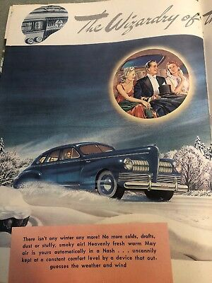 1940S Nash There's A New Thrill Dealer Promotional Book