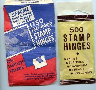 2 Pc. Partial Packs Of Stamp Hinges (Maybe 1000)!!!!...starts @ 2.99