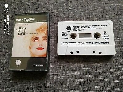 Cassette - Casete - Madonna - Who´s That Girl - Ost - Soundtrack - Bso - Rare