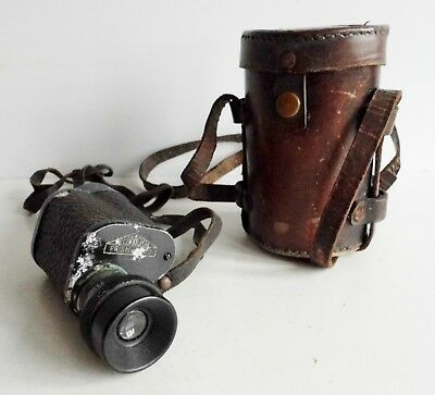 Interesting Old Monocular In Leather Case - Spares Or Repairs - Info Welcome