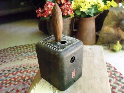 COOL Primitive Vintage Hand Made Dinner Bell From Iron Motor Cover Farm Sale Fnd