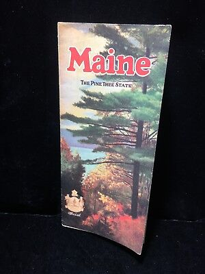 1928 Maine State Travel Tourism Pamphlet Vintage Pine Tree State Map Photos