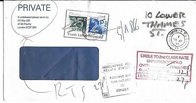 GB 1990 Postage Dues & various cachets on cover E7