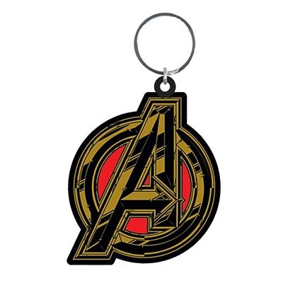 Genuine Marvel Comics Avengers Infinity War Symbol Rubber Keyring Key Fob Thanos