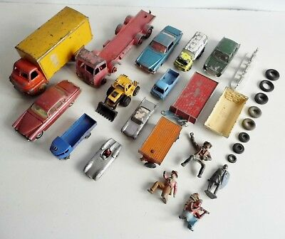 Joblot Of Old Die-Cast Corgi / Dinky Etc Trucks & Cars - Spares Or Repairs