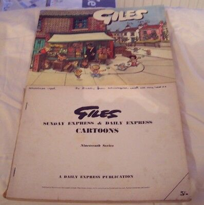 Two Giles Cartoon Annuals - 28th series & 19th Series [Missing Cover] - Bargain!