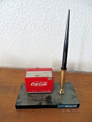 Working Drink Coca-Cola Ice Cold Ice Chest Cooler Music Box Salesman Sample 50's