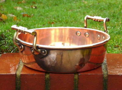 ANTIQUE GEORGIAN EARLY 19th CENTURY COPPER KITCHEN PRESERVES PAN