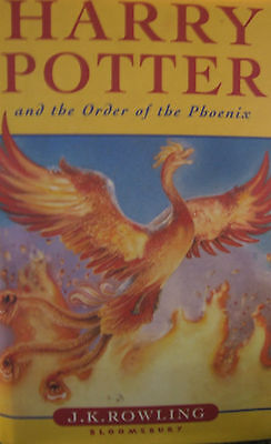 1st ED HARDBACK HARRY POTTER AND THE ORDER OF THE PHOENIX J.K ROWLING