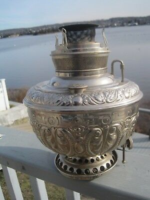 "Antique ""The Juno Lamp"" Hanging Oil Lamp Base by Miller, Not Electrified"