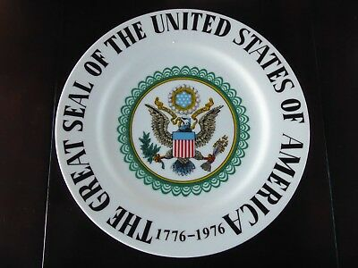 Vintage 1776-1976 The Great Seal Of The United States Of America Collector Plate
