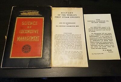 Science of Locomotive Management Central Railroad of New Jersey Book 1925