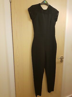 Matalan Candy Couture Girls Black and lace jumpsuit size 16years children