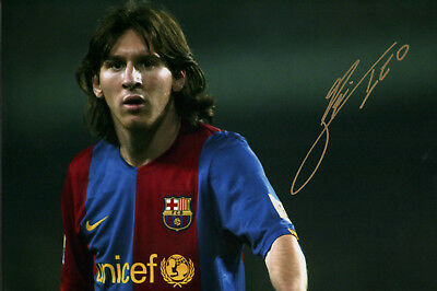 Lionel Messi★FC Barcelona★Argentinien★Autogramm★Repro★Poster★A4★Groß-Foto★20x30