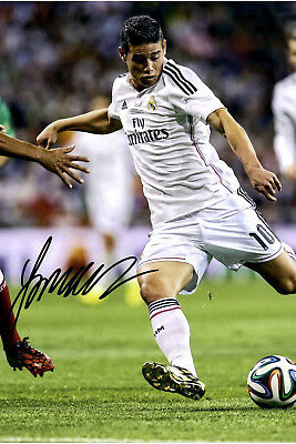 James Rodriguez★Real Madrid★FC Bayern München★Autogramm★Poster★Groß-Foto 20x30