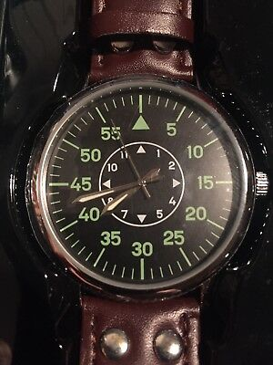 Official Eaglemoss Version Of 1940s German Luftwaffe Pilot Watch Bnib.
