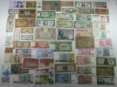 World nice collection of amazing 57 notes paper money lot - R716