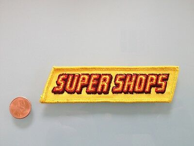 Vintage SUPER SHOPS auto parts store PATCH unused RARE sew on Drag Racing NHRA