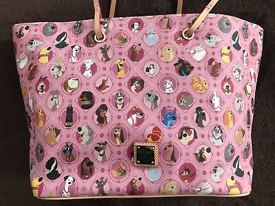 Disney Dooney & Bourke Dogs Pink Tote Bag NWT