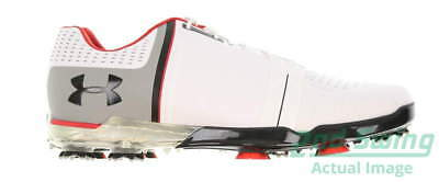 New Mens Golf Shoe Under Armour UA Spieth One 11 White/Black/Red MSRP $200