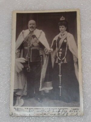 H M KING EDWARD VII & H M QUEEN ALEXANDRA Postmarked 1907 George V PENNY STAMP
