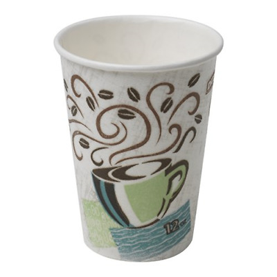 Dixie PerfecTouch 5342DX WiseSize Insulated Paper Cup, 12oz Case of 20 Sleeves,