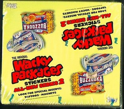 Wacky Packages Stickers All-New Series 2, 5, 7 (Topps) SEALED Boxes (Lot of 3)