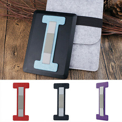 CO_ Faux Leather Adhesive Tablet Hand Strap Handle Grip for Kindle iPad Rakish
