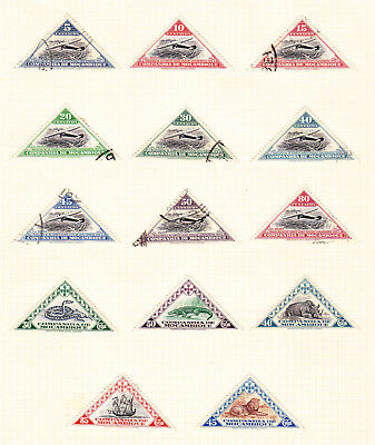 Mozambique Company postage stamps - Album Page of 14 Mixed Used and Mint stamps