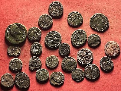 EXTRA QUALITY Lot of 25 Ancient Roman Bronze AE2,AE3, AE4 Follis Coins