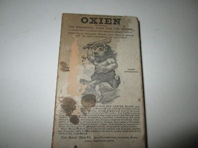 Vintage Oxien Giant Oxie Co. food for the nerves advertising cardboard box