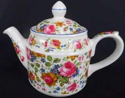 Sadlers  Small Teapot ~ ' Old Chintz ' Pattern ~ Lovely Display Condition !