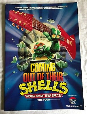 Teenage Mutant Ninja Turtles Coming Out of their Shells Tour Book Vintage 1990
