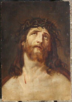 Antique icon of Christ, 19th century, by Guido RENI, old Russian copy