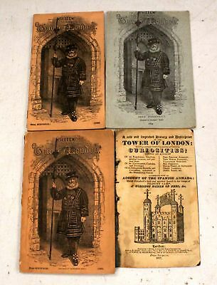 Set Of x4 TOWER OF LONDON Vintage Guide Books - W44