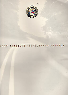 1997 Chrysler LHS Concorde Cirrus   Factory Original Sales Brochure
