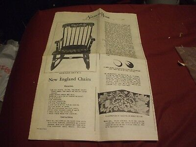 1917 THE AMERICAN HOME - NEW ENGLAND CHAIRS Patterns Plans