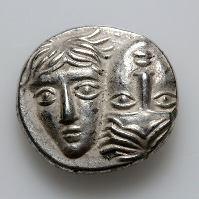 Ancient Greek coin MOESIA, Istros. Circa 4th Century BC. SILVER obol