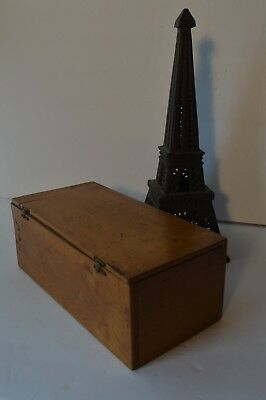 Antique 22 Glass Photo Slides Wood Box J.E. Bulloz Paris France Purchased in Par