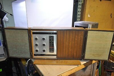 Vintage General Electric Tube T1000-C Table Radio GE Walnut Cherry [Powers On]