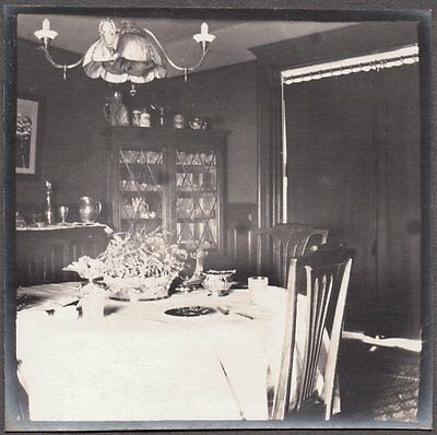 Vintage Photograph 1900's Connecticut New York Victorian Home Interior Old Photo