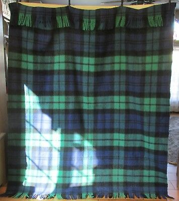A Foxford Woolen Mills Wool Providence Ireland Plaid Blanket Stadium Throw